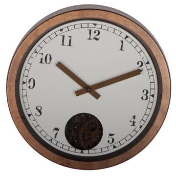 Retro 12 Inches Rustic Gear Wall Clock