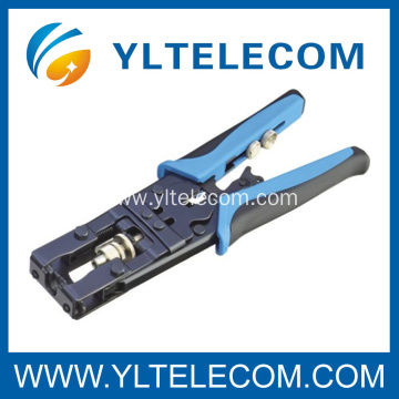 Coaxial Interchangeable F/BNC/RCA connector crimping tool