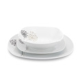 18 Piece Square Porcelain Tableware Dinner Set