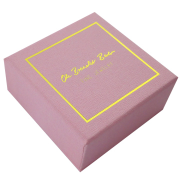 Custom Gold Foil Logo Necklace Paper Box