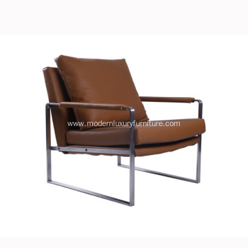 Popular Design for for Lounge Stainless Steel Modern Chair Modern Zara Stainless Steel Leather Chaise Lounge Chairs supply to Indonesia Exporter