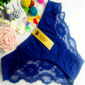 OEM wholesale new style blue hipster sexy China cotton fancy underwear 501