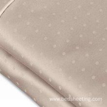 Good quality 100% for Bleached Sateen Sheets Organic Cotton 700TC Swiss Dot Jacquard Sheet export to Portugal Exporter
