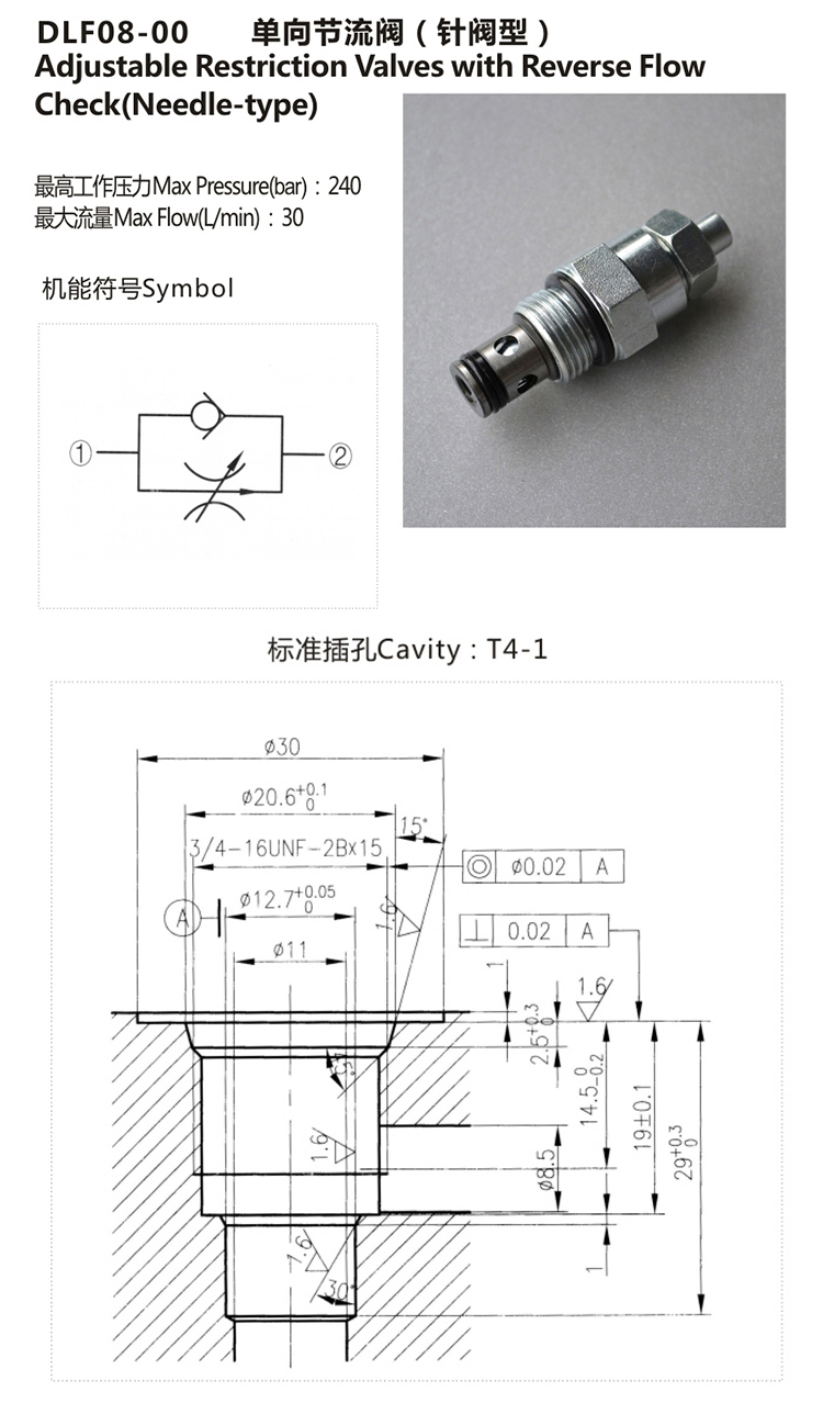 Hydraulic Screw In One Way Check Valves