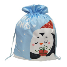 China for Christmas Sack Christmas Drawstring Bag with penguin pattern export to Germany Manufacturers
