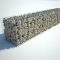 Welded Gabion Box Defensive Barriers Wall With Geotextile