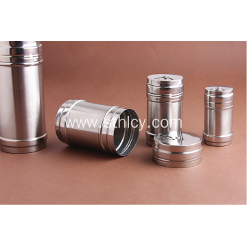 Stainless Steel Revolving Lid Restaurant Condiment Jar