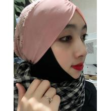 Lovely Muslim Pink Scarf Backing cap
