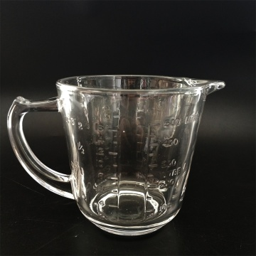 Graduated Measuring glass cup for milk