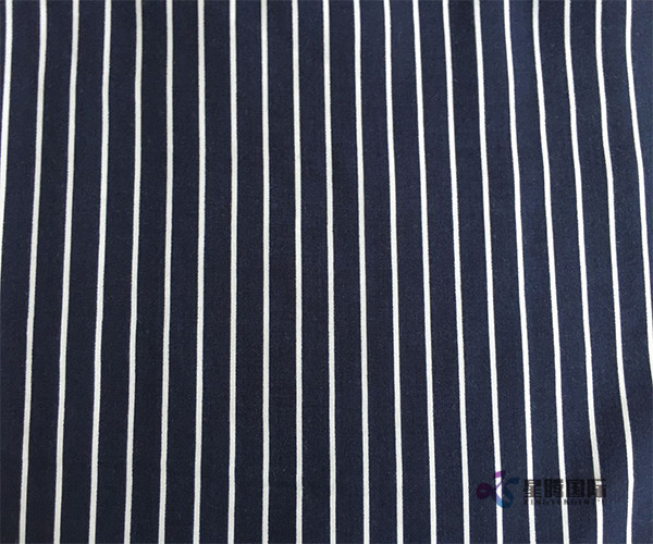 White Stripe Printed 100% Rayon Fabric