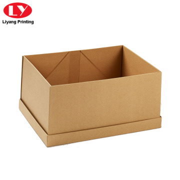 Foldable Flat Pack Kraft Paper Gift Box