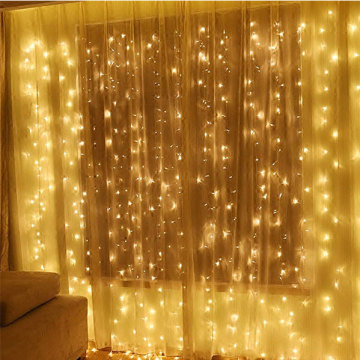Factory Supply for Warm White Curtain Lights LED Window Star Curtain String Light export to Mayotte Manufacturer