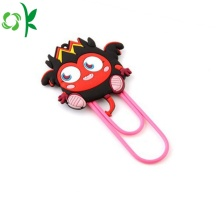 Hot Selling Cartoon Silicone Clip Bookmark for Christmas