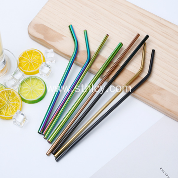 Food Grade 304 Stainless Steel Color Metal Straws
