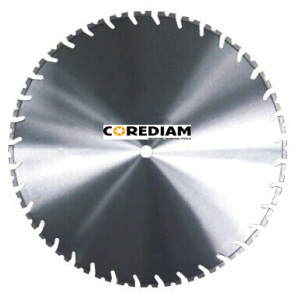 Laser welded wall saw blade