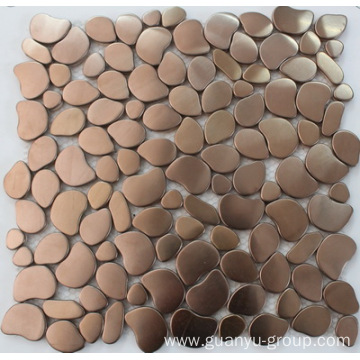 Rose golden color stainless steel mosaic