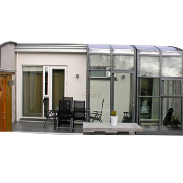 Telescopic Glass House Retractable Sunroom Roof