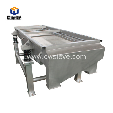 Linear vibrating sieve for green coffee