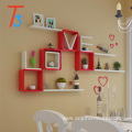 household handmade colorful hanging wooden wall shelf