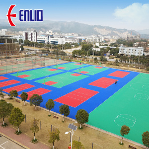 P.P. court tiles for outdoor basketball court