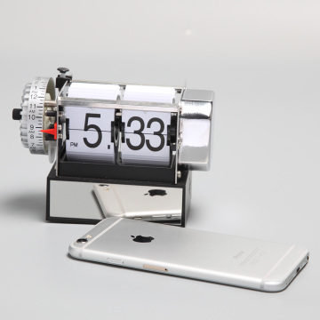 Small Flip Alarm Clock With A Cubic Base