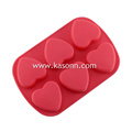 6 Cavity Medium Silicone Heart Pastry Mold