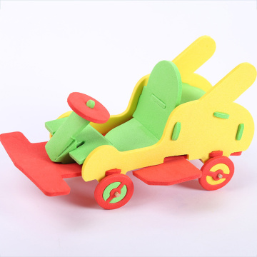 Children DIY Handicrafts EVA Car Truck Toy