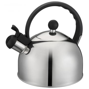 BlackHandle and Stainless Steel Lid of Tea Pot