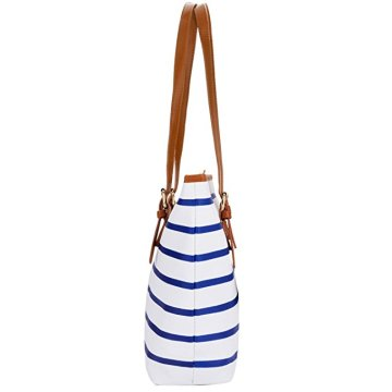 Ladies PU Leather Stripes Shoulder bag Womens Handbags