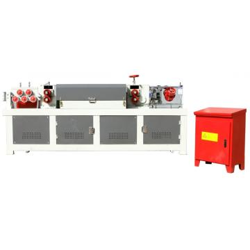 Steel bar cutting and straightening machine