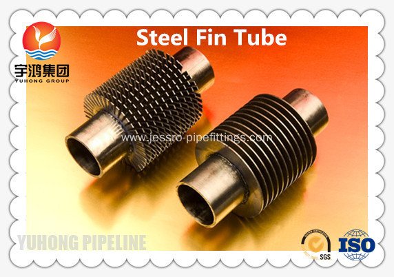 CuNi 90/10 Shape Type Heat Exchanger Fin Tube OD25.4 X 1.5WT L Finned Copper Tubing