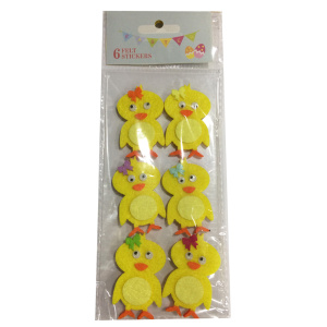 Easter sticker with chick shape
