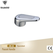 Silver Color Polished Chrome Zinc Alloy Faucet Handle