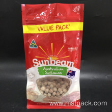 Flat Bottom Dried Food Bag With Windows