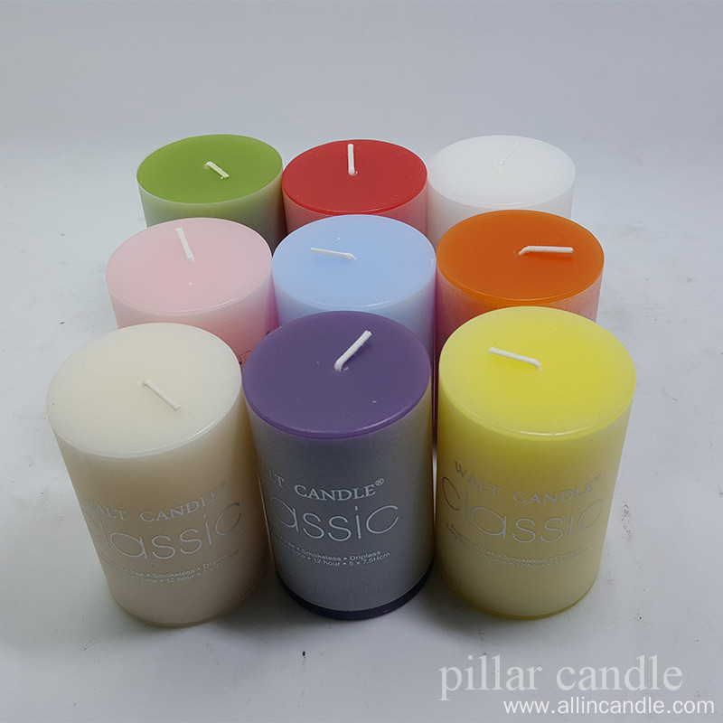 Multi-use online shopping pillar candle