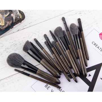 high quality silver handle Cosmetics brushes set