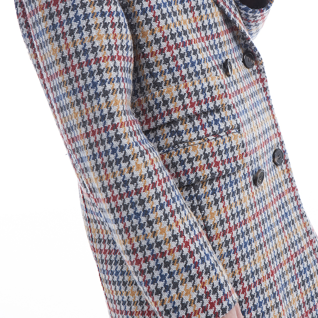 Thousand Birds Checker Cashmere Coat