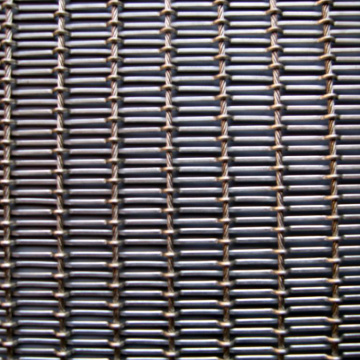 Online decorative crimped mesh for doors