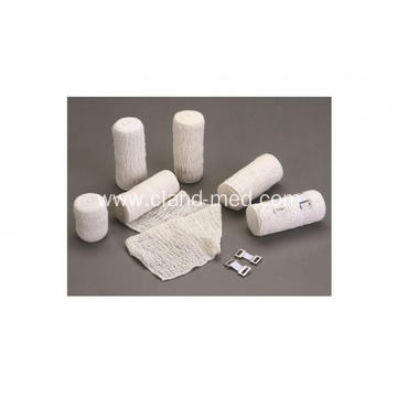 Hospital Disposable Bleached Elastic Cotton  Crepe Bandage