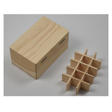 Pine Wood Unfinished Box for Essential Oil