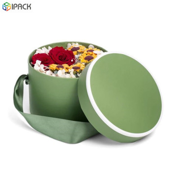 Decorative Birthday Flower Boxes with Ribbon