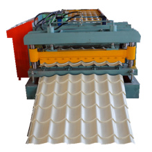 Glazed steel roof tile roll forming machine