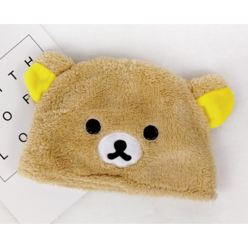 Cute Animal Baby Soft Coral Fleece Hat