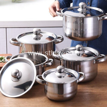 Pagkain Stainless Steel Cookware Set ng Pagkain
