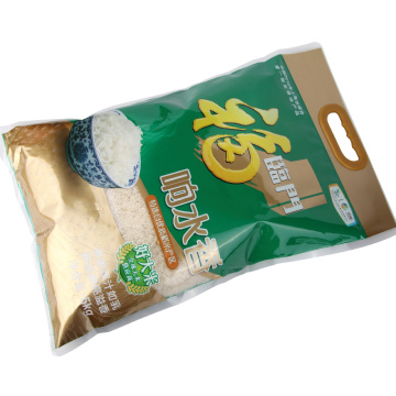 Rice Packaging Three Side Seal Bag With Handle