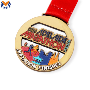 Custom marathon best finisher enamel medals
