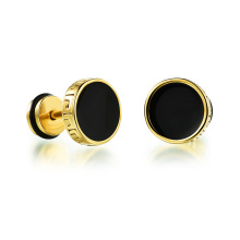 Factory directly provided for Heart Stud Earrings Stainless steel vintage gold stud earrings for men supply to Japan Wholesale