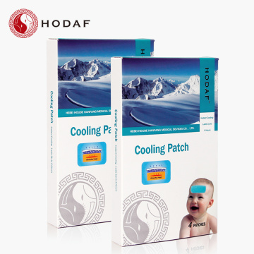 fever headache pain relief hydrogel cooling patch