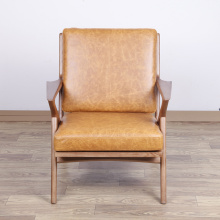 Fast Delivery for Comfortable Wood Lounge Chair Waxy leather wooden Selig lounge chair supply to South Korea Exporter