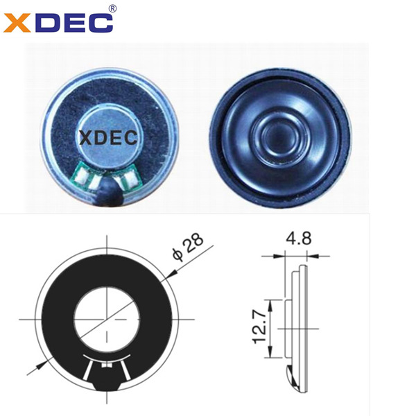28mm plain film fullrange speaker 8ohm 0.5w